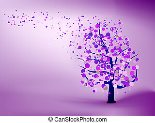 Abstract purple background. EPS 8