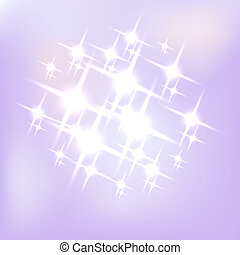 Abstract purple background with flares. Vector illustration