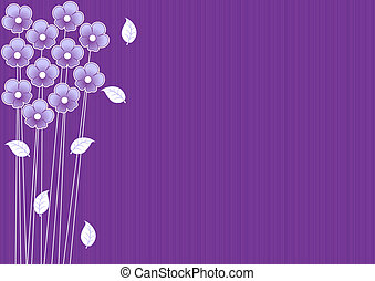 abstract purple background with flowers - abstract purple...