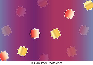 abstract purple background with puzzle pieces vector