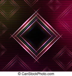abstract purple background with shining multicolored squares...