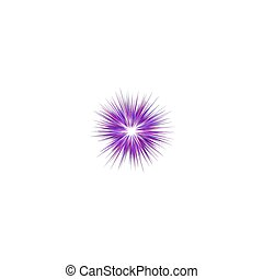 Abstract purple explosion design background