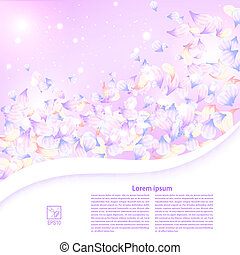 Abstract purple floral background with a field for the text. Vec