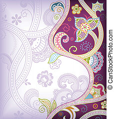 Abstract Purple Floral - Illustration of abstract floral ...