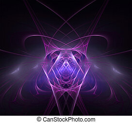Abstract purple fractal mirror