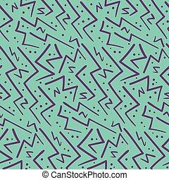 Abstract purple on blue zig zag seamless pattern