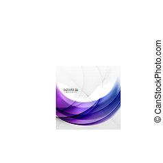 Abstract purple swirl design