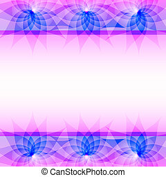 Abstract purple vector background with flowers