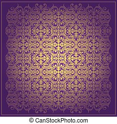 Abstract purple  vector baroque background