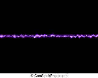 Abstract purple waveform. EPS 10