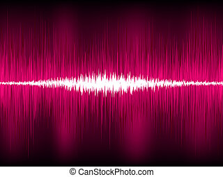 Abstract purple waveform vector background. EPS 8 vector ...