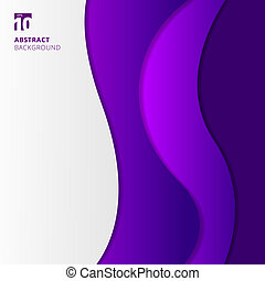 Abstract purple waves background.