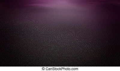 Abstract purple wavy surface made of small balls
