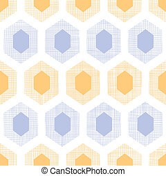 Abstract purple yellow honeycomb fabric textured seamless pattern background