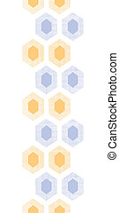 Abstract purple yellow honeycomb fabric textured vertical seamless pattern background