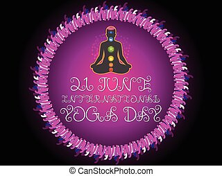 abstract purple yoga day background