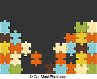 Abstract puzzle background decor