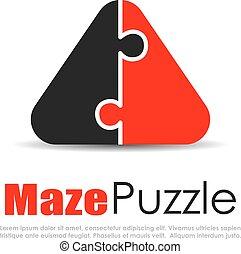 Abstract puzzle logo