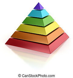abstract pyramid 3d concept