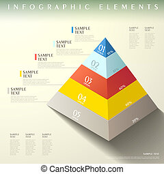 abstract pyramid infographics
