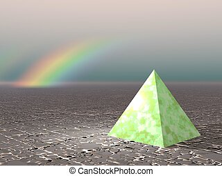 Abstract - Pyramid with rainbow