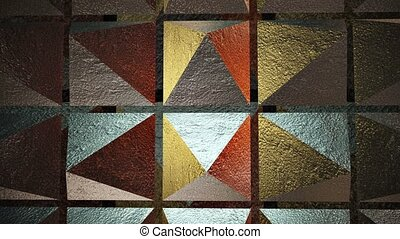 Abstract Pyramids in gold
