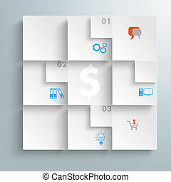 Abstract Quadrates Infographic Design PiAd - Infographic...