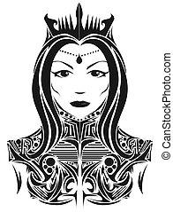Abstract queen