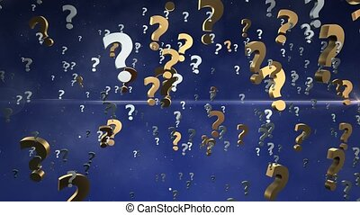 Abstract Question marks