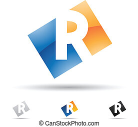 abstract, r, brief, pictogram