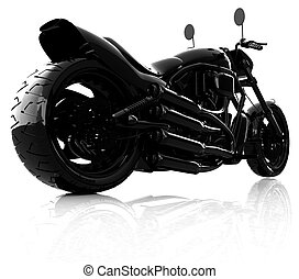 abstract racing motorcycle concept
