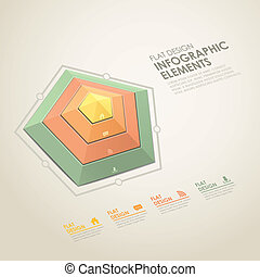 abstract radar chart infographics - vector abstract flat...