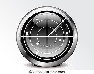 abstract radar icon vector illustration