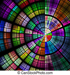 Abstract radial background - Composition of abstract radial...