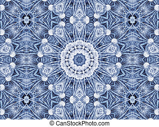 Abstract radial pattern of natural large dandelion flower