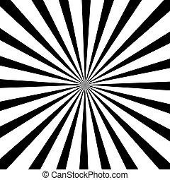 Abstract radial sun burst background