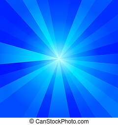 abstract radiant background - Cold blue tones abstract...