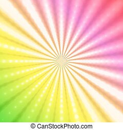 Abstract radiant rainbow background
