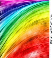 An abstract rainbow for creative illustration.