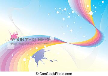 abstract, (rainbow), achtergrond