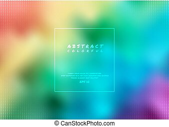 Abstract rainbow background colorful modern party style halftone design with space for your text