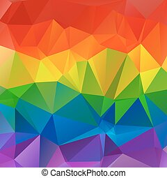 abstract rainbow background - Polygonal abstract...