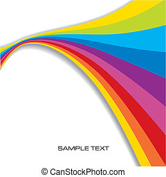 Abstract Rainbow Background with copy space, vector ...