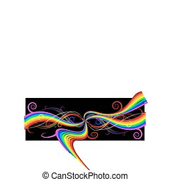 Abstract rainbow background with curves