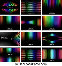 Abstract rainbow bark colour background collection. Vector...