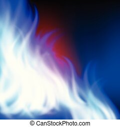 Abstract rainbow blue fire background