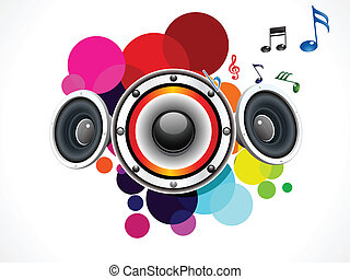 abstract rainbow circle based sound vector illustration