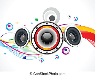 abstract rainbow circle based sound