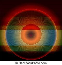 Abstract rainbow circle