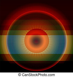 Abstract rainbow circle